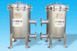 Four bag 304 stainless steel filter housing with