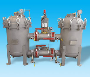 "Duplex Multi-Bag-Filter-Housing. ASME certified. ""U"" Stamped Bag Filter Vessels, Pods, Housings. Plus 100% American Made."